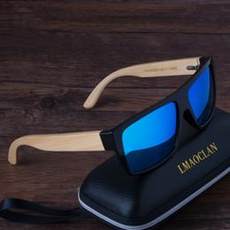 Wholesale Sunglasses Retro Large - Wholesale- Bamboo Retro Polarized Sunglasses Men Wooden Sun glasses Women Brand Large Size Original Wood Glasses Oculos de sol masculino