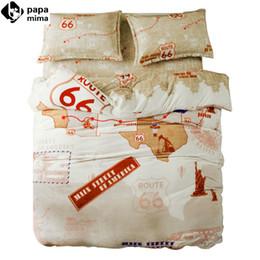 Wholesale Fleece Bedding Sets - Wholesale- 66 Route warm fleece fabric bedding set 4pcs for queen size soft duvet cover set pillowcase pillowcase quilt covet set bedsheets