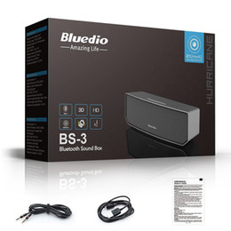 Wholesale Home Theater Speaker System - Wholesale- Big BASS Bluedio BS-3 Camel Bluetooth speaker Portable Wireless speaker Home Theater Party Speaker Sound System 3D stereo Music