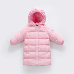 Wholesale Green Coat Baby - 2017 kids clothes New children 's clothing boys and girls children in the long section down jacket baby infant down jacket
