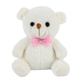 Wholesale Super Soft Teddy Bear Gift - Wholesale- New Hot! Super Cute 20cm Lovely Soft LED Colorful Glowing Mini Teddy Bear Plush Toy Stuffed Plush Toy Gifts For Birthday