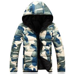 Wholesale Camouflage Outwear - Wholesale- Men's Fashion Winter Parkas Camouflage man Jacket Warm Slim Fit battle fatigues Coat Autumnhombre Outwear for man S-2XL