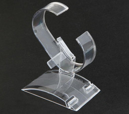 Wholesale Wholesale Plastic Watch Stand - Plastic watch display stand Watches Display Rack Holder Show Stand Acrylic Removable shelf bracket dhgate_shop168
