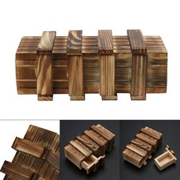Wholesale Toy Compartments - Funny Magic Compartment Wooden Puzzle Box With Secret Drawer Brain Teaser Baby Kid Puzzles Toy