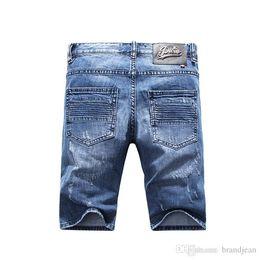 Wholesale Jeans Length Men - Brand TOP Men pp854 Skinny Zipper Fly Mens Jeans Micro-elastic Denim Desinger Slim Top quality holes MENS JeansItalian trend Designer workS
