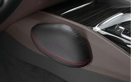 Wholesale vehicle color change - Genuine leather Leg Back Cushion Knee pad Vehicle Seat Leg Support for BMW Car interior accessories