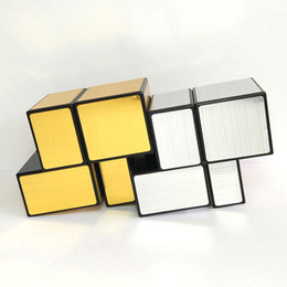 Wholesale Toy Magic Windmill - Transparent Magic Cube Puzzle Games Windmill Toy Square Spinner Brinquedos Menina Mirror Cube Laberinto Children Gift 50D0699