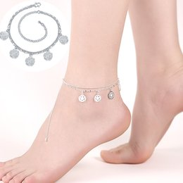 Wholesale Online Store For Wholesale - Fashion Jewelry Online Store Hot Sale Double Layer Silver Plated 5 Flowers Anklet Fashion Leg Bracelets for Women Foot Chain Jewelry Gifts