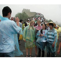 Wholesale Fashion Raincoats - Fashion Hot Disposable PE Raincoats Poncho Rainwear Travel Rain Coat Rain Wear gifts mixed colors