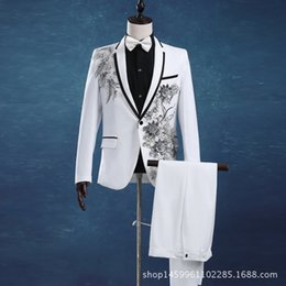 Wholesale Fly Shows - Wholesale- The new 2016 sequined dresses men show suit two-piece outfit