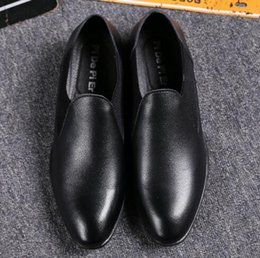 Wholesale Shoe Cuffs - New youth shoes men young leisure pointed thick men's leather leather cuffs within the tube increased