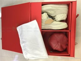 Wholesale Cow Hats - 2017 Newest Just Don X C Air Retro 2 Beach 2S 834825-250 Men Basketball Shoes Running Sneakers With Box + Red Hat US7-12