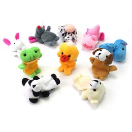 Wholesale Chinese Zodiac Animal Puppets - Wholesale-Hot Sell Chinese Zodiac 12 Animals Finger Puppets Plush Toys Kids Baby Play Toys High Quality lb