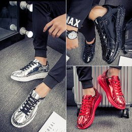 Wholesale Floor Mirrors - Hot Sale Fashion Men Casual Shoes Superstar Unisex Mirror thick bottom shoes Black Red Silver Fashion shoes 777