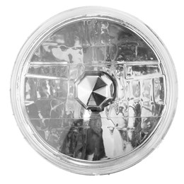 Wholesale Clear Round Seals - 2017 Brand New 7 Inch Round Halogen Semi Sealed H4 Crystal Clear Glass LEN Headlight Conversion