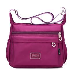 Wholesale Cloth Cross Body Bags Women - Wholesale- Cloth shake Women Multi Pocket Classic waterproof Nylon Messenger Cross Body Travel Shoulder Bag