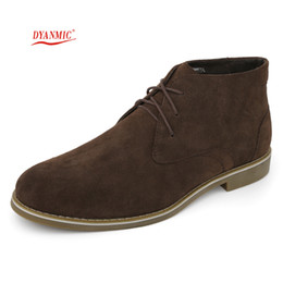 Wholesale Italian Ankle Boot - Wholesale-HOT SALES! DYANMIC New Arrival Italian Fashion Men's Black Brown Winter Leather Boot Men Ankle Boot With Fur Lined Free Shipping