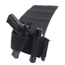 Wholesale Tactical Magazines - Tactical Adjustable Bedside Couch Under Mattress Bed Seat Car Pistol Gun Holster Holder Universal with Flashlight Loop Magazine
