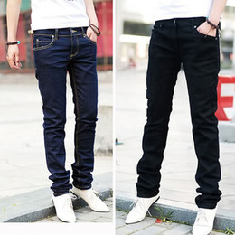 Wholesale Stylish Casual Pants - Wholesale- Men Casual Jeans Pencil Pants Stylish Designed Straight Slim Fit Trousers