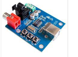 Wholesale Usb Dac Board - Original PCM2704 USB DAC to S PDIF Sound Card Decoder Board 3.5mm Analog Output F PC board