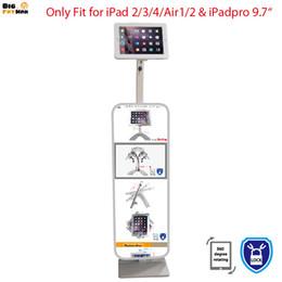 Stands d'étagères en Ligne-Tablet pc présentoir pour iPad 2 3 4 support de l'air stand boîtier en métal cadre de sécurité support verrouillable pour iPad 2 3 4 air floor