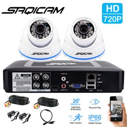Wholesale Dvr Day Night Weatherproof - Saqicam 4CH HD 1080N AHDM DVR Security System Day Night 720P High Resolution Weatherproof Dome Cameras CCTV Surveillance System