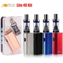 Kit mini mod online-JomoTech Lite Kit kit di avvitamento Kit 40 min Jomo 40w box mod mini bulit-in kit di vaporizzatori batteria 2200mAh 3ml Lite serbatoio e sigarette vapori DHL