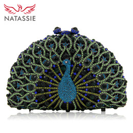 Wholesale Beige Bow Clutch - NATASSIE Women Evening Bags Ladies Clutches Female Crystal Clutch Party Bags