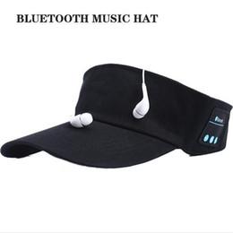 Wholesale Cell Phone Ear Caps - Bluetooth Sports Baseball Cap Canvas Summer Outdoor Hat Music Speaker Wireless Mic Wireless Headset