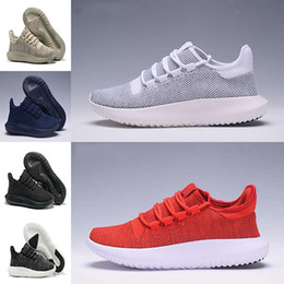 Wholesale Discount Leather Shoes For Women - Discount Cheap 2017 Hot Wholesale Tubular Shadow High Quality Running Shoes Fashion Sports Cheap Men Women Shoes Black White Blue For Sale