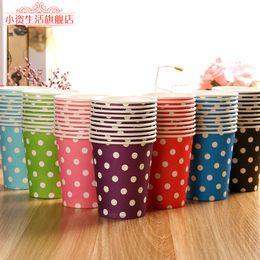Wholesale Wholesale Polka Dot Items - Wholesale- 100pcs 9OZ Paper Drinking Cups, Party Items Paper Cups, Polka Dots Party Cups For Kids Birthday Party Decoration