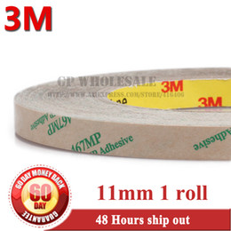 Wholesale Thinnest Double Sided Tape - Wholesale- 2016 (0.06mm Thick) 11mm*55M Thin Clear Double Sided Pure Lamination Glue Sticky Tape 3M 467MP for Laptop Tablet Metal Plate Tr