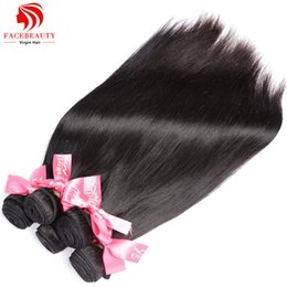 Wholesale Human Hair Weave Brands - Wholesale-8A Brazilian Straight Hair 4 Bundles Human Hair Extensions Unprocessed Virgin Brazilian Weave Bundles,Certified Human Hair Brand