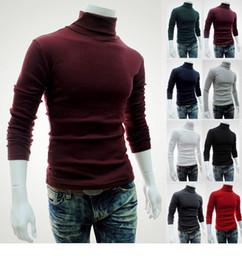 2019 casaco camisolas camisa homens Homens Camisola de malha de colar alto Camisola de manga comprida de manga comprida Tops de inverno magro Outwear Slim Pullover Camisola de casaco de lã 100pcs LJJO3231 casaco camisolas camisa homens barato