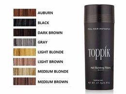 Wholesale Toppik Wholesale Fibers - toppik hair building fibers 27.5g Toppik Hair Fiber Thinning Concealer Instant Keratin Hair Powder Black Spray Applicator