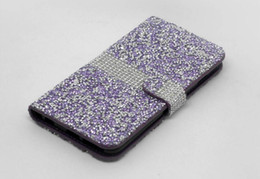 Wholesale Diamond Case For Blackberry - For iPhone 8 7 Plus Galaxy ON5 Note 8 S8 Active Wallet Diamond Case LG K7 Stylo 3 LS777 Bling Case Crystal PU Leather Card Slot Opp Bag