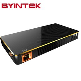 Wholesale Discount Android - Wholesale-BYINTEK Big Discount Mini projector portable Home Theater MD322 Android Wifi 8GB USB Airplay Bluetooth HDMI Proyector Beamer