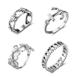 Wholesale Wholesale Mood Jewelry - NEW Wholesale 10Pcs Lot 925 Sterling Silver Midi Rings Women Mood Rings Vintage Jewelry Smart Rings