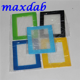 Wholesale Waxed Sheets - Silicone wax pads dry herb mats 14cm*11.5cm or 11cm*8.5cm square baking mat dabber sheets jars dab tool for silicon container DHL