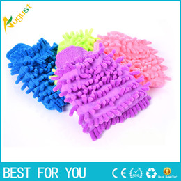 Wholesale Wholesale Chenille Microfiber Mitt - New hot Super Mitt Microfiber Car Wash Gloves Washing Cleaning Anti Scratch car washer Household care brush hot selling