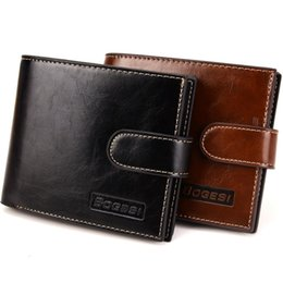 Wholesale Fold Change - Begesi New Men's Wallets Carteira Masculina Black Coffee Color Quality Hasp 3 Folds Card Holder Zipper Coins Change Pocket Purse