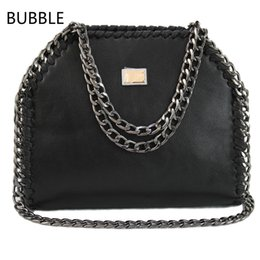 Wholesale Satchel Evening Bag - Wholesale-2016 Stella Women Party Shoulder Bag PU Falabellas Clutch With 3 Chains Evening Socialite Tote Fashion Sac A Main Lady Handbag
