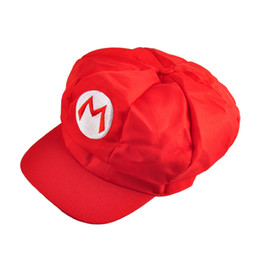 Wholesale Free People White - Lovely Beautiful Luigi Super Mario Bros Anime Cosplay Adult Hat elastic at the back cap 5 colors 1904024