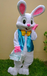 Wholesale Fancy S - PROFESSIONAL EASTER BUNNY MASCOT COSTUME Bugs Rabbit Hare Adult Fancy Dress Cartoon Suit