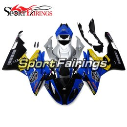 Wholesale Bmw Bodywork - Fairings For BMW S1000RR 2015-2016 15-16 Blue Yellow Silver Injection Plastics ABS Fairings Motorcycle Fairing Kit Bodywork Covers Cowlings