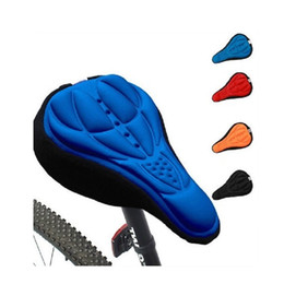 Wholesale Bike Seat Gel Cover - 2016 Colorful Bike Saddle Cover Unisex Extra Comfortable Sillicone&Memory Foam Padded Soft Gel Relief Cycling Bicycle Seat Cover