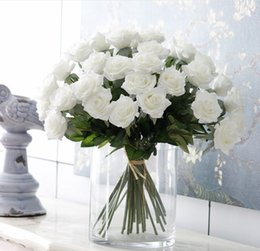 Wholesale Cheap Wholesalers Artificial Flowers - wedding centerpieces Roses 60 pieces silk artificial wedding bouquets cheap silk flowers artificial rose bouquets wedding arch decorations