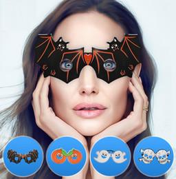 2019 chauves-souris de papier d'halloween Citrouille crâne fantôme bat papier lunettes halloween décorations pour halloween costumes fête faveurs verre prop tour jouet chauves-souris de papier d'halloween pas cher