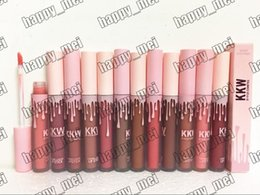 Wholesale Epacket Ship - Free Shipping ePacket New Makeup Lips Kylie Kkw By Kylie Cosmetics Creme Liquid Lipstick!12 Different Colors