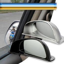 Rétroviseur latéral en Ligne-Angle mort de miroir de voiture deuxième rangée de siège de verre côté grand angle de vue arrière automatique Adjustabe pour l'aide de stationnement camions véhicule universel
